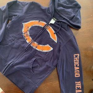 Women's Chicago Bears zip up hoodie